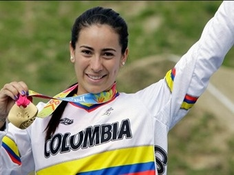 COLOMBIA | Mariana Pajón:  At her young age she has step on the BMX´s podiums around the world many times. She is the flag bearer for Colombia at the 2012 Olympics. -Source: www.marianapajon.com.co
