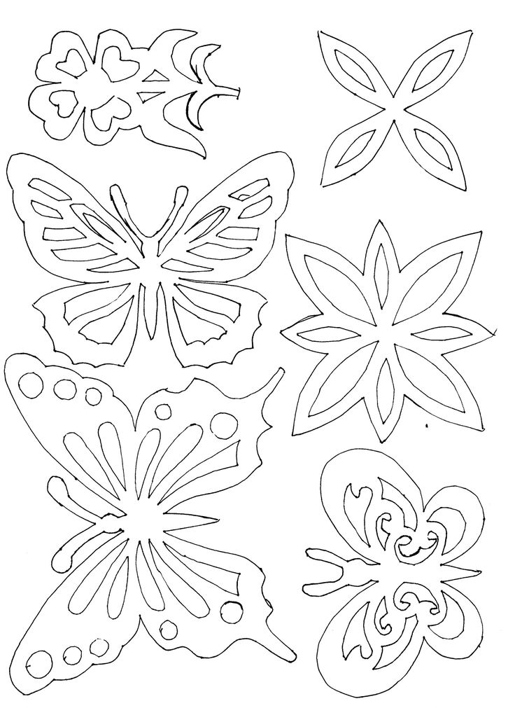 Butterfly stencil or embroidery patterns
