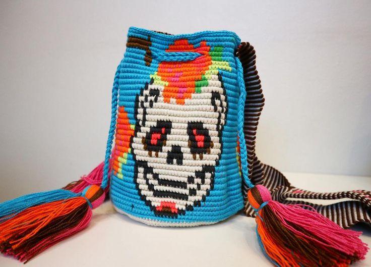 Wayuu Mochila bag Skull