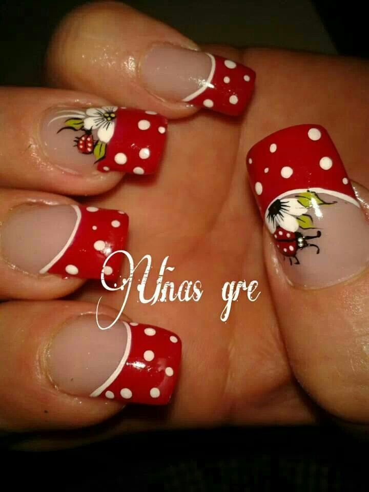 Punta Roja Unas Nails Nail Art Y Nail Designs