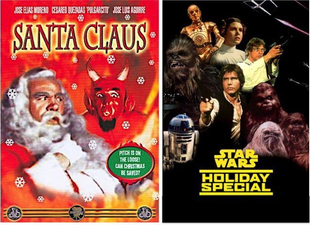 O espírito do tempo do Natal em Santa Claus e Star Wars Holiday Special