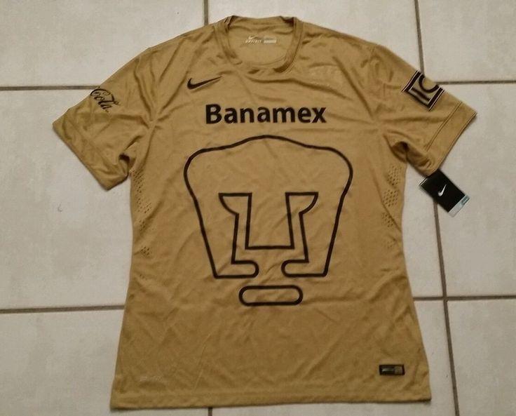 NWT Authentic NIKE Pumas Unam Mexico  GOLD Soccer Jersey Men's XL #Nike #PumasUnam