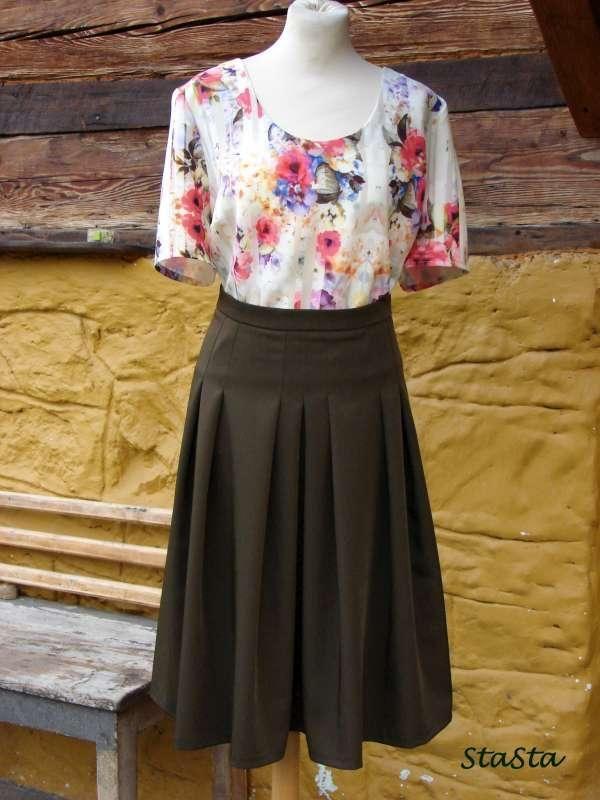 Veľmi pekná a elegantná kombinácia. Autorka: StatSta   Šitie, móda, sukňa, blúzka, leto   Artmama.sk