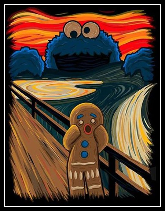 """En déclinant Le cri d'Edvard Munch """