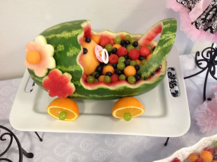 25 best ideas about watermelon baby carriage on pinterest for Baby shower tray decoration