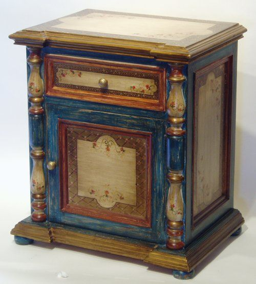 hand painted sevilla nightstand