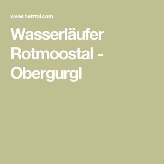 Wasserläufer Rotmoostal - Obergurgl