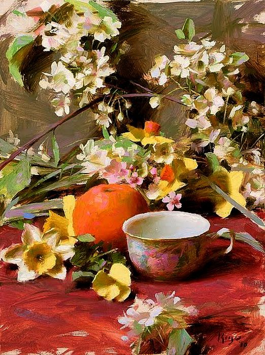 ❀ Blooming Brushwork ❀ - garden and still life flower paintings - Daniel Keys
