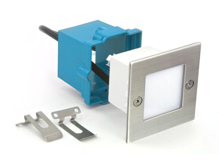 LED-Einbauleuchte Boden Treppenleuchte B04, 230V, Edelstahl, IP54
