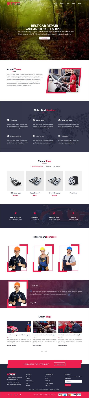 Tinker auto mechanic car repair wordpress theme