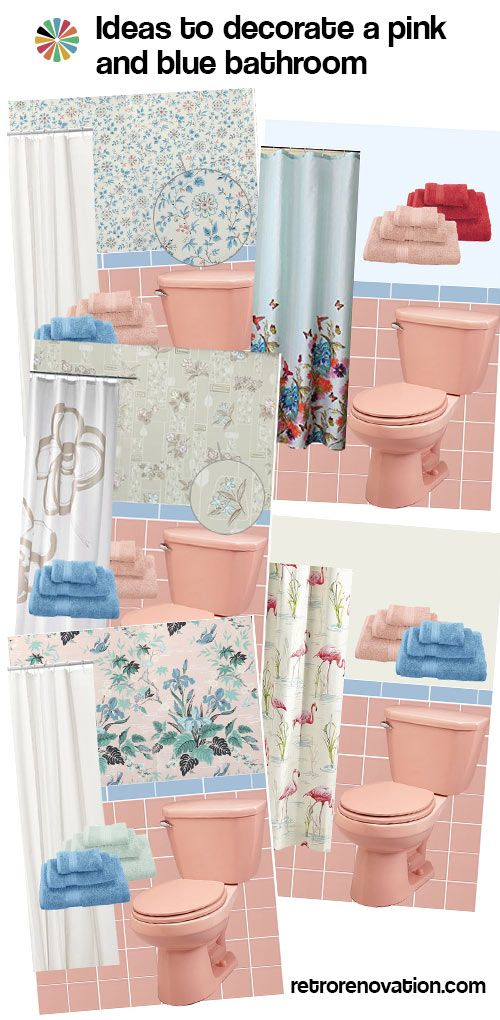 1976 best home talk images on pinterest business ideas for Pink and blue bathroom ideas