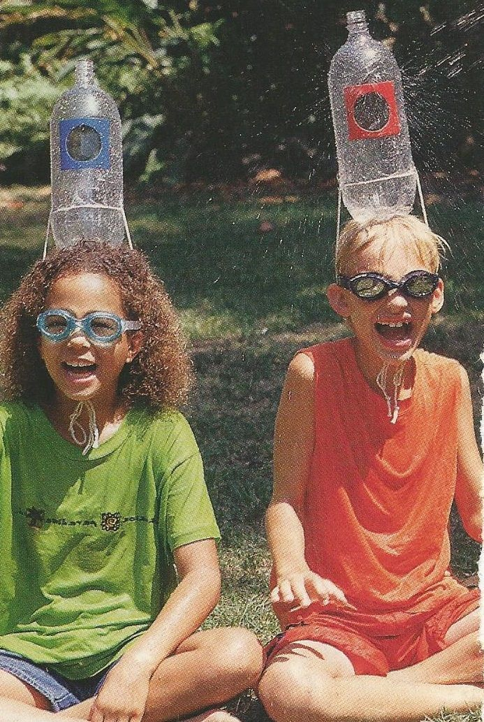 Water wars bus promotion. Fill the bottle on top of kids head with a water gun or spray bottle!