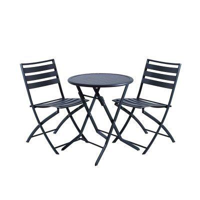 Set 3 piezas de mesa y silla plegables DOMI por 89,99€  Mobiliario de jardín que te hace sentir en casa.El estar exterior de DOMI es la marca de muebles más innovadora en el mundo. Combinando alta calidad con diseños únicos a precios competitivos, DOMI trae solo lo mejor de lo mejor.    #chollo #domi #jardin #juego #mesa #oferta #sillas