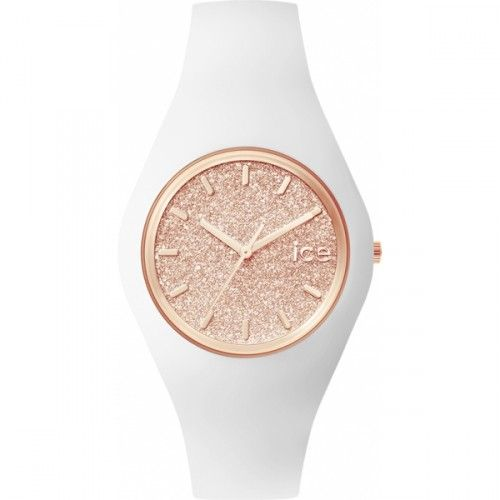 Montre femme Ice Watch Ice Glitter White Rose-Gold Unisex - ICE.GT.WRG.U.S. - Bijouterie Brillaxis
