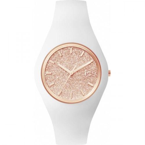 Montre femme Ice Watch Ice Glitter White Rose-Gold Unisex - ICE.GT.WRG.U.S. - Bijouterie Brillaxis