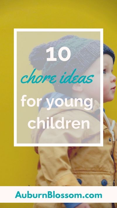Ideas for chores for toddlers & young children. Chores teach kids important lessons such as responsibility, ownership & pride. Read post to get chore ideas for your kids!