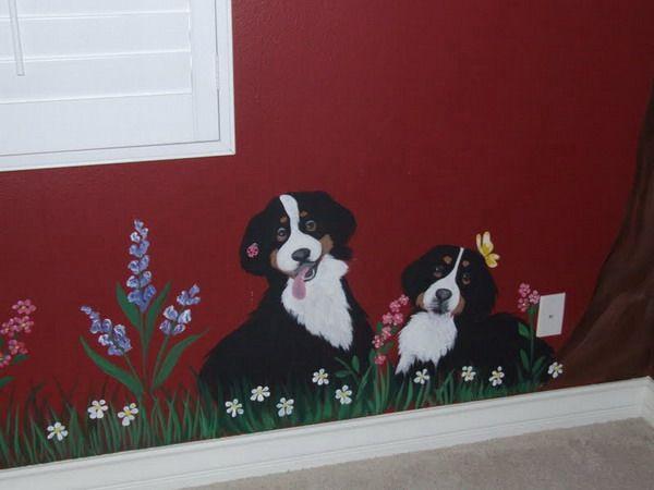 Dog Wall Mural Ideas Wallpaper Murals Inspirations