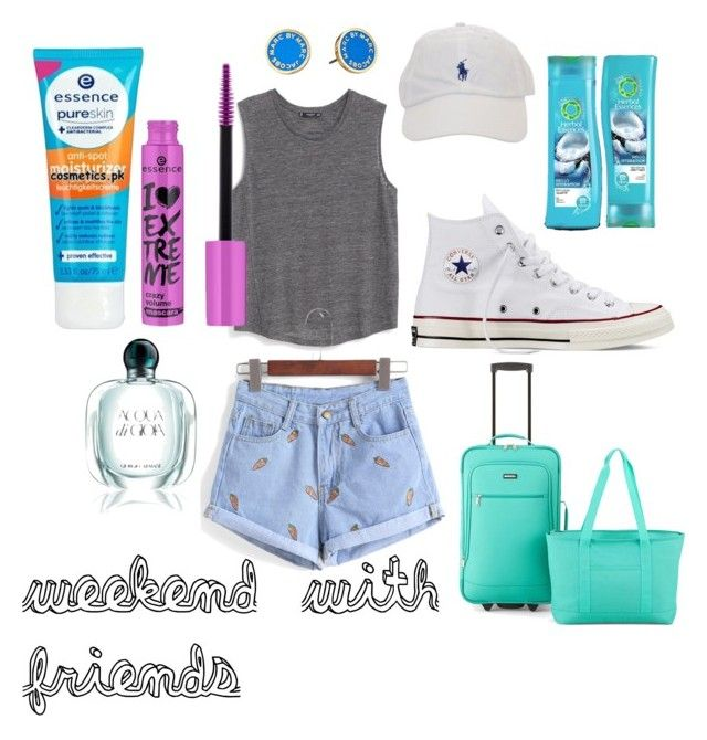 """""""weekend with friends"""" by camillastefan1 on Polyvore featuring moda, MANGO, Converse, PROTOCOL, Marc by Marc Jacobs, Herbal Essences, Giorgio Armani e vintage"""