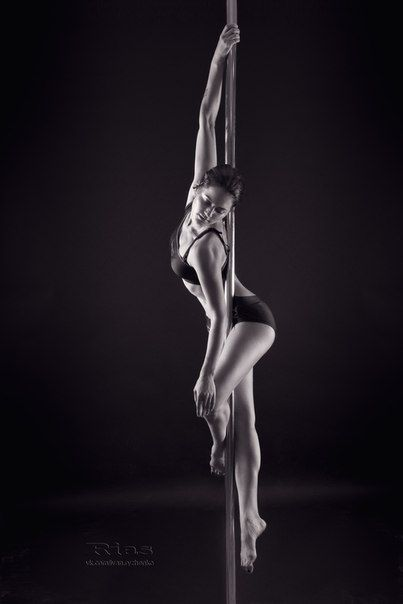 Black and white pole dance (I kind of want a black and white one now, but maybe in the dancer pose?)