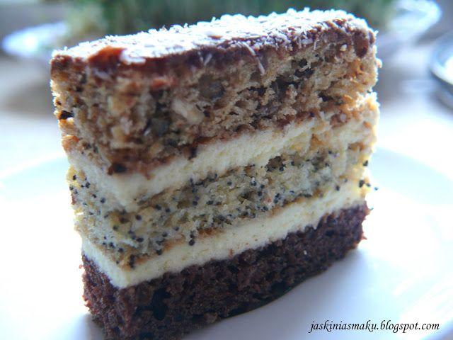 Jaskinia Smaku: Ciasto orzechowo- makowo- czekoladowe