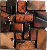 Обугленный деревянные плитки efflorescent мозаика из твердой древесины отделка стен покрытия кухня ванна щитка отель 3D мозаика