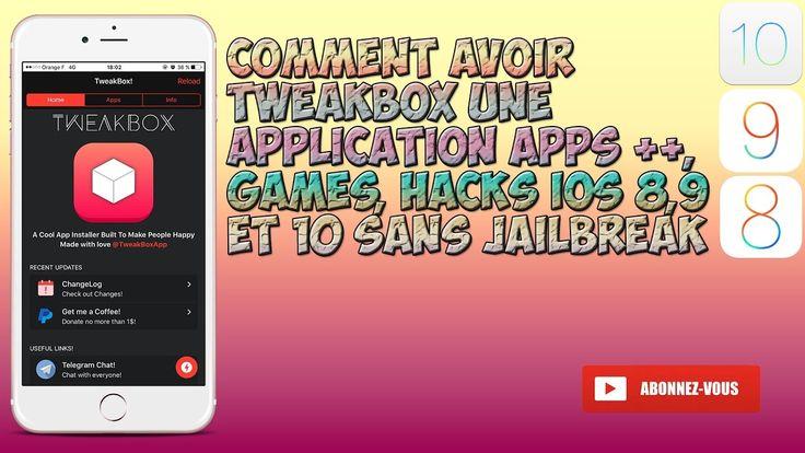 Comment avoir TweakBox une application Apps ++, Games, Hacks iOS 8,9  et...