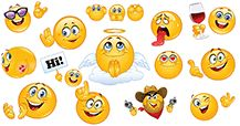 This gallery is filled with big-size smileys! Find angels, devils, and other cool smileys ranged between!