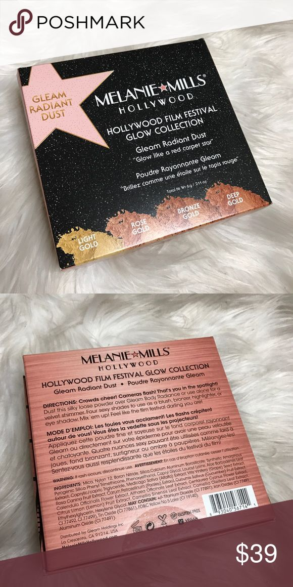 Melanie Mills Hollywood Film Festival Glow Melanie Mills Hollywood Film Festival Glow collection | Loose powder which can be used as a blush, bronzer, highlighter or eyeshadow. | Never opened or used. | No Trades Melanie Mills Hollywood Glow Collection Makeup Bronzer