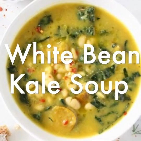 Lemony Kale And White Bean Soup Fork Knife Swoon Recipe White Bean Soup Whole Food Recipes Vegetarian Recipes