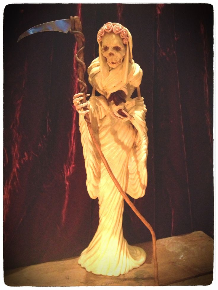 Santa Muerte statue made by T. Chambers for wolf-and-goat.com-Beautiful!