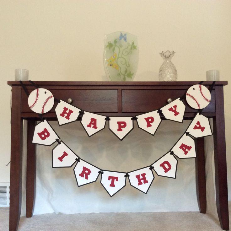 Baseball Happy Birthday Banner - Baseball theme - Baseball Birthday Party - Baseball decoration - Sports Birthday Party - Laser cut