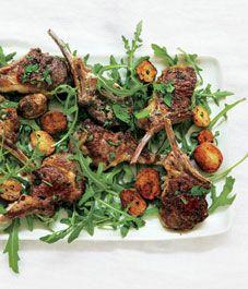 Nigella Lawson's lamb cutlets with mint, chili and golden potatoes - Style At Home