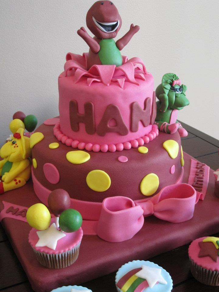 Barney Cake Topper Tutorial