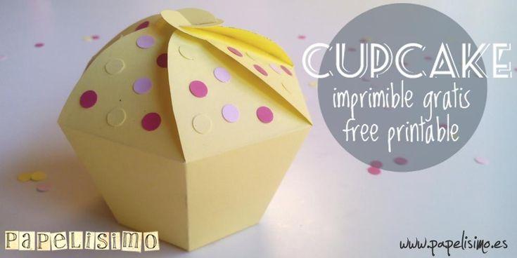 Aprende a hacer fácil y rápido estas cajas de regalo con forma de cupcake. ¡Geniales!