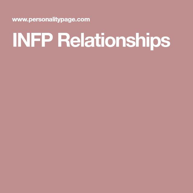 INFP Relationships