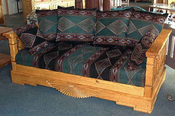 Aurora Sofa Honey Stain 6 Pillows