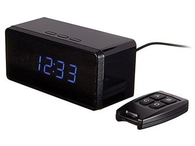 Video spy cam and clock