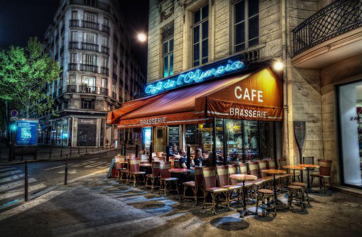 2560x1440 вечер, столица, париж, кафе, paris, франция, france Картинки на рабочий стол #39804