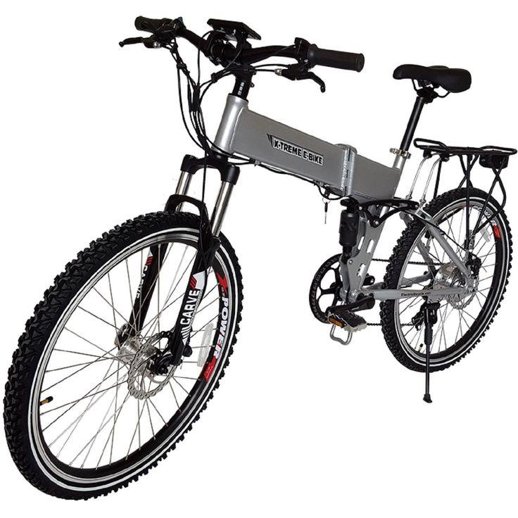 X-Treme Baja 36 Volt Lithium Powered Electric Folding Mountain Bike Bicycle NEW