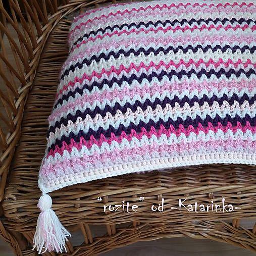 """handmade by -Katarinka- /  """"rozite"""" / háčkovaný vankúš - cuscino all´uncinetto - crocheted cushion"""
