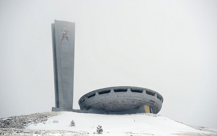 The oval skeleton of the House of the Bulgarian Communist Party on Mount Buzludzha in central Bulgaria has lain in a state of neglect for over 20 years
