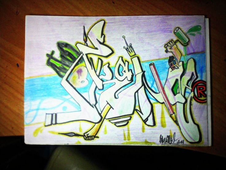 It's been a long long time since I did my last graffiti, that one is fresh! Made with colour pencils