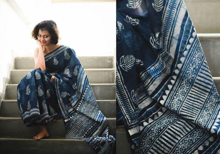 Cotton Sarees - Indigo Love By Suta - PC - 15626 - Main