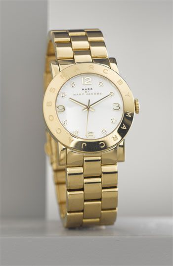 MARC by MARC JACOBS 'Amy' Crystal Bracelet Watch in Gold