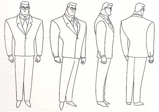 cartoon concept design  suprman