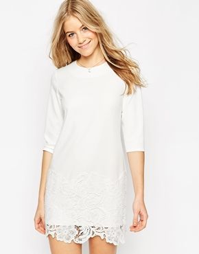 jordan 6 low ASOS Clean Shift Dress with Premium Lace Hem