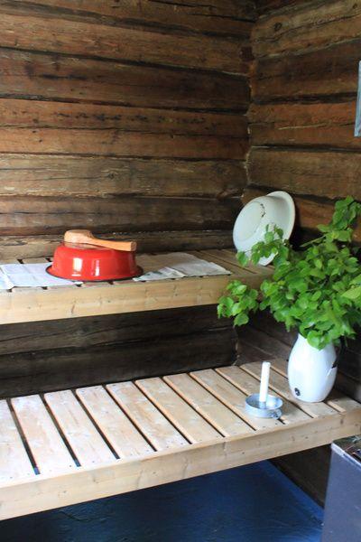 mökki,sauna,juhannus,koivu,pesuvati