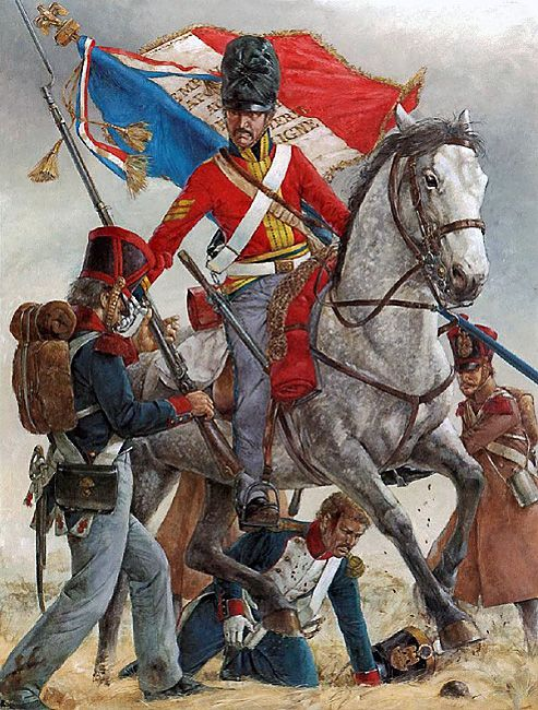 Capture of the French 45th Line 'Eagle', Waterloo
