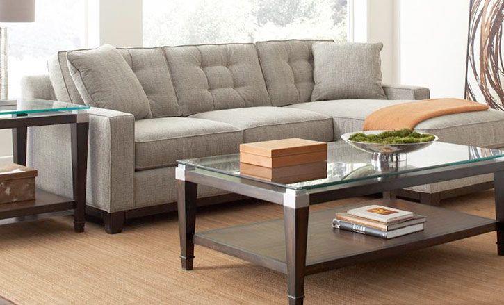 Clarke Fabric Sectional Sofa Bed, 2 Piece Queen Sleeper...