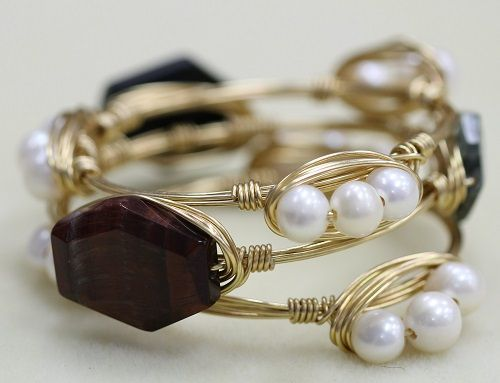 Embellished Bangle Bracelets Learn to make your own super trendy embellished bangle bracelets! You can feature whatever gems or beads you like, and create a fabulous stack of gorgeous arm candy! Best of all, it's inexpensive and easy. Trust me,…Read more ›